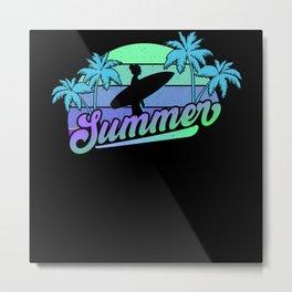 Ocean Life Surf Club Summer Metal Print