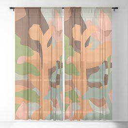 Soul dyed with the color of its thoughts #art print Sheer Curtain