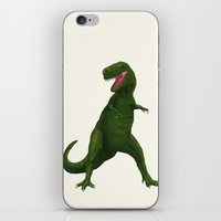 t rex iPhone & iPod Skins featuring T Rex by Lydia Meiying