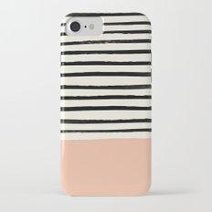 Peach x Stripes Slim Case iPhone 7