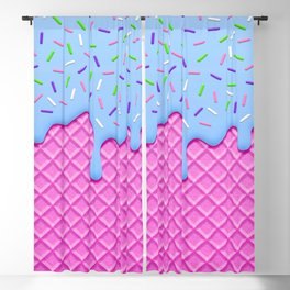 Psychedelic Ice Cream Blackout Curtain