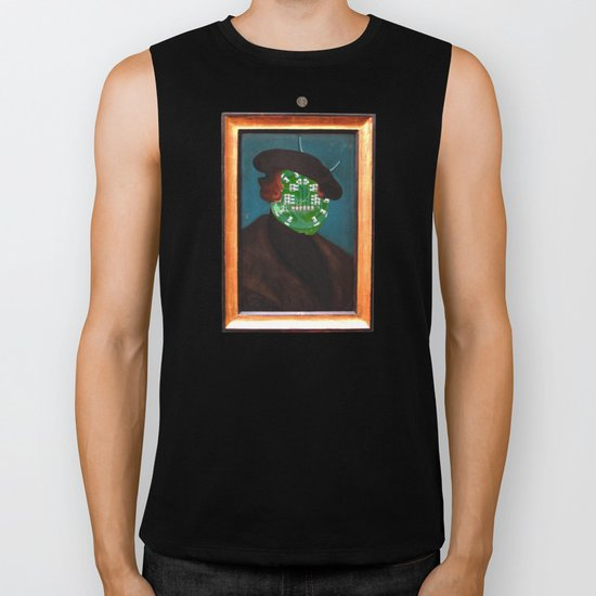 The Painting Collection Circuit Collage Biker Tank