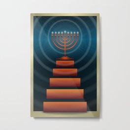Art Deco Hanukkah Metal Print