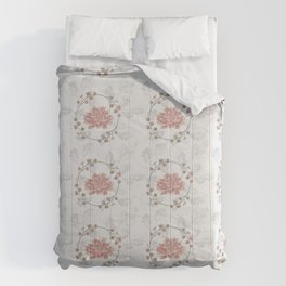 Peach Roses and Laurel Pastels Comforters