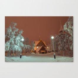 Kiruna Church In the Winter Snow Canvas Print
