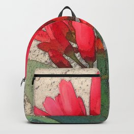 Agave with Red Flowers Backpack
