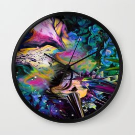 Oiled Thought Wall Clock