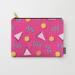 Geometric Memphis in Pink Carry-All Pouch
