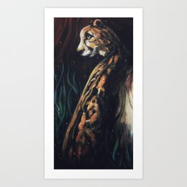 Jaguar Watching Art Print