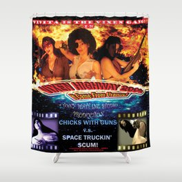 Vixen Highway 2006: It Came from Uranus! (2010)'. – Movie Poster Shower Curtain