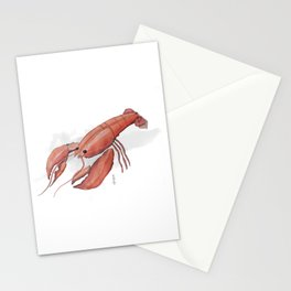 Lobster in Watercolor Stationery Cards