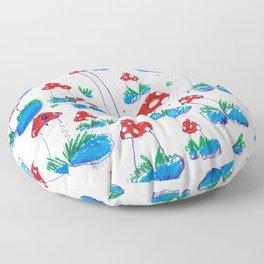 Crazy Xmas Mushrooms - Christmas Gift Idea Floor Pillow