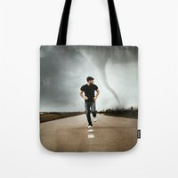 running Tote Bags featuring Running by Jovana Rikalo