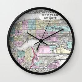 New York City and Brooklyn Wall Clock