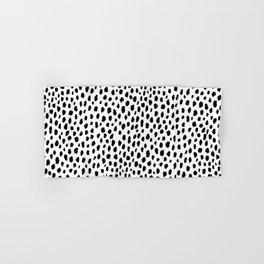 Dalmatian Spots (black/white) Hand & Bath Towel