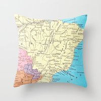 brazil Throw Pillows featuring Brazil by inourgardentoo