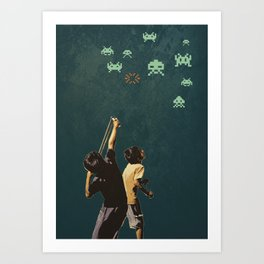 Invaders! Art Print