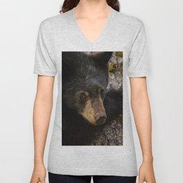 Black Bear Cub Unisex V-Neck