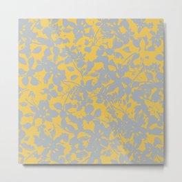 Sunshine Yellow - Broken but Flourishing Floral Pattern Metal Print