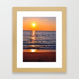 Sunset at Sunset Beach Framed Art Print