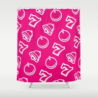 las vegas Shower Curtains featuring Vegas by very giorgious