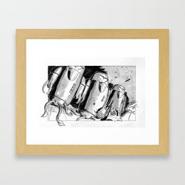 Alien Trouble Framed Art Print