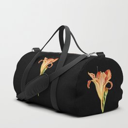 Orange Daylily Illustration Duffle Bag