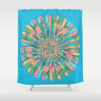 funky Shower Curtains featuring Funky Flower by DesignsByMarly