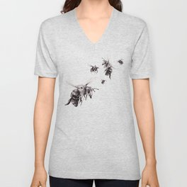 Crown of Bees Unisex V-Neck