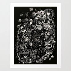 Spark-Eyed Oblivion Cascade Blues Art Print