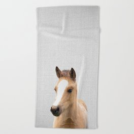 Baby Horse - Colorful Beach Towel