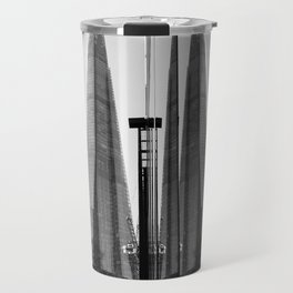 Shards - Black And White London Architecture Print Travel Mug