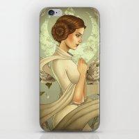 princess leia iPhone & iPod Skins featuring Princess Leia by trevacristina