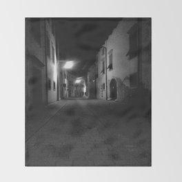 Sneaking Through The Dark Alley Throw Blanket