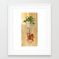cycle Framed Art Prints featuring Cycle by katy-makes-things