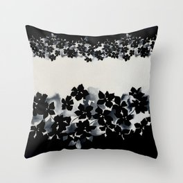 Black and White Confetti Stripe Throw Pillow