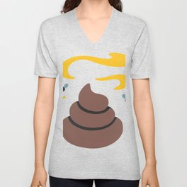 Poop Flies Unisex V-Neck