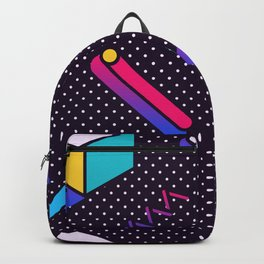 Bright Background in Neo Memphis Style Backpack