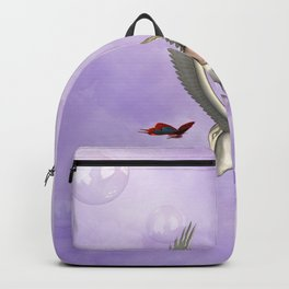 Cute little pegasus with butterflies Backpack