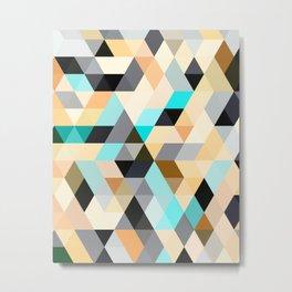 Flux Blue Metal Print
