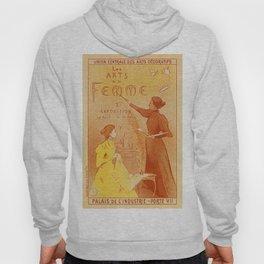 Art by women art nouveau ad drawing Hoody