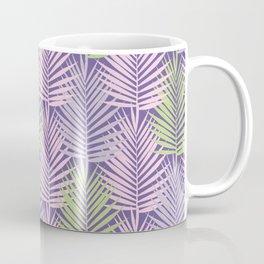Ultra violet tropical palm leaves seamless pattern. Coffee Mug
