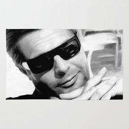 Marcello Mastroianni Portrait Rug