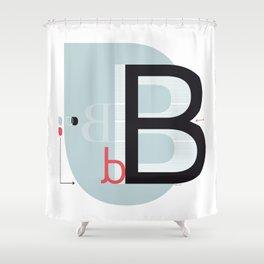 B b Shower Curtain