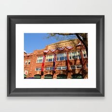 Fenway Spring - Fenway Park in Boston on Opening Day, Red Sox Framed Art Print