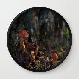 Tiny Shrooms Wall Clock