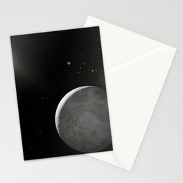 927. Hubble Finds Tenth Planet is Slightly Larger than Pluto Artist Concept Stationery Cards