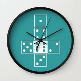 Unrolled D6 Wall Clock