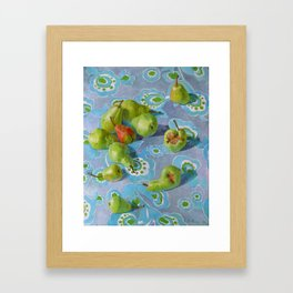 Still life. Pears. original oil painting Framed Art Print