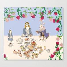 alice in wanderland -afternoontea Canvas Print